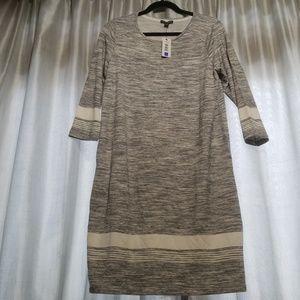 NWT! Gray and white tunic. SZ L Hilary Radley